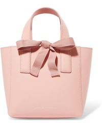 Loeffler Randall - Mini Grosgrain-trimmed Textured-leather Tote - Lyst