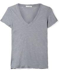 James Perse - Casual Slub Supima Cotton-jersey T-shirt - Lyst