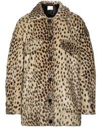 By Malene Birger - Tidara Oversized Leopard-print Faux Calf Hair Bomber Jacket - Lyst