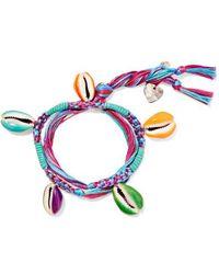 Aurelie Bidermann - Takayama Braided Cotton And Resin Bracelet - Lyst