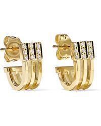 Melissa Kaye - Izzy Huggie 18-karat Gold Diamond Earrings - Lyst