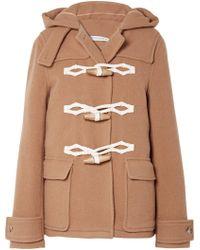 JW Anderson - Hooded Wool Duffle Coat - Lyst