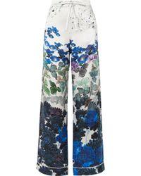 Meng - Printed Silk-satin Pyjama Trousers - Lyst