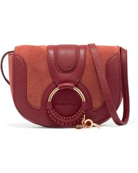 See By Chloé - Hana Mini Suede And Textured-leather Shoulder Bag - Lyst