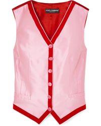 Dolce & Gabbana - Two-tone Faille Vest - Lyst