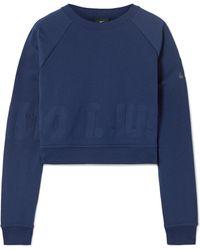 Nike - Pro Versa Cropped Embossed Jersey Sweatshirt - Lyst