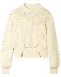 Isabel Marant - Lane Cropped Ribbed Cotton-blend Sweater - Lyst