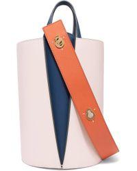 Danse Lente - Lorna Mini Color-block Leather Bucket Bag - Lyst