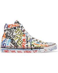 Vetements - White Graffiti High-top Sneakers - Lyst