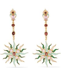 Percossi Papi - Gold-plated Multi-stone Earrings - Lyst