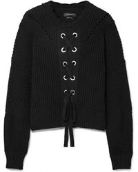 Isabel Marant - Lacy Ribbed Cotton-blend Sweater - Lyst