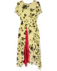 Preen Line - Asha Floral-print Georgette Midi Dress - Lyst