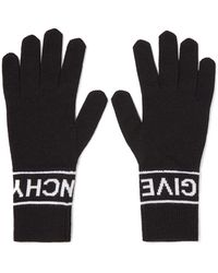 Givenchy - Intarsia Wool Gloves - Lyst