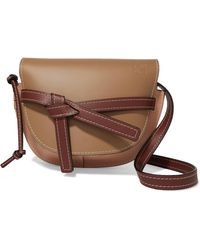 7c149d208c6e Lyst - Loewe Gate Textured-leather Bucket Bag in Brown