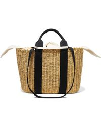 Muuñ - Caba Straw And Cotton-canvas Tote - Lyst