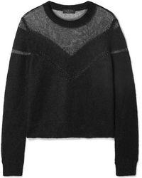Rag & Bone - Blaze Paneled Open-knit Sweater - Lyst