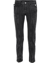 Givenchy - Distressed Mid-rise Slim-leg Jeans - Lyst