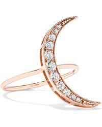 Andrea Fohrman - Luna 18-karat Rose Gold Diamond Ring - Lyst