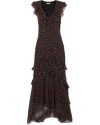 Michael Kors - Ruffled Floral-print Silk-georgette Gown - Lyst