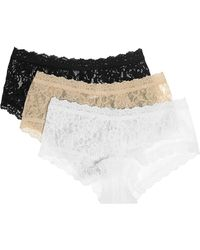 Hanky Panky - Signature Set Of Three Stretch-lace Boy Shorts - Lyst
