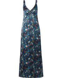 R13 - Floral-print Silk-georgette Maxi Dress - Lyst