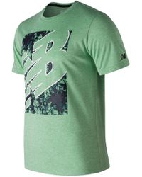 New Balance - Heather Tech Short Sleeve - Lyst
