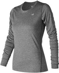 New Balance - Heathered Long Sleeve - Lyst