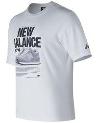 New Balance - 574 Tee - Lyst