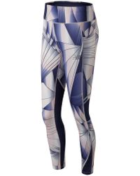 New Balance - Printed Impact Tight - Lyst