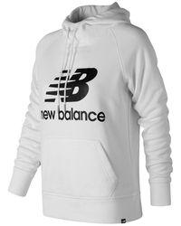 New Balance - Essentials Pullover Hoodie - Lyst