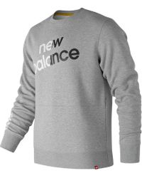 New Balance - Essentials Linear Brushed Crew - Lyst