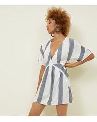 Apricot - White Stripe Tunic Dress - Lyst