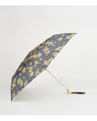 New Look - Mustard Floral Print Collapsible Umbrella - Lyst