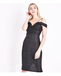b7e5f72e8ea13 River Island Petite Metallic Nude Wrap Dress - Lyst