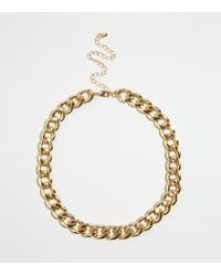 New Look - Gold Chunky Chain Necklace - Lyst