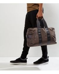 New Look - Khaki Double Strap Holdall - Lyst