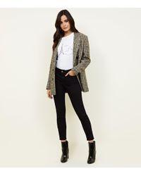 2763bd4cd92 New Look Petite Black Super Soft Super Skinny India Jeans in Black ...