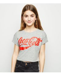 d3dc07a53e8 Wildfox Coca Cola Distressed Jersey T-shirt in Red - Lyst