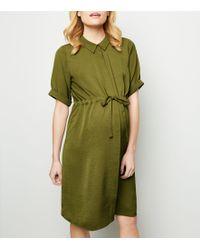 da44799690c New Look Maternity Black Stripe Nursing T-shirt Dress in Black - Lyst