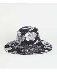042f72bf89af8 New Look Black Floral Embroidered 3d Cap in Black - Lyst