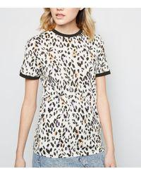 04a863675faf BOSS Orange Telaronde Floral Print Short Sleeve T-shirt in White - Lyst