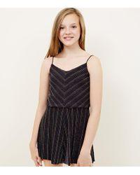 1d291cf2402 New Look - Girls Rainbow Glitter Stripe Playsuit - Lyst