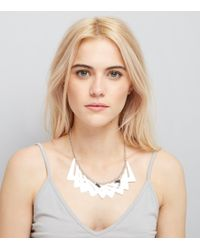 New Look - Silver Chunky V Pattern Necklace - Lyst