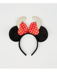New Look - Black Disney Minnie Mouse Antler Headband - Lyst