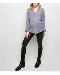 25d01acd842d9 New Look Maternity Blue Under Bump Ripped Skinny Jeans in Blue - Lyst
