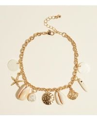New Look - Gold Seashell Anklet - Lyst