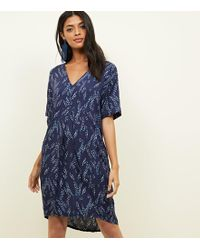 Apricot - Navy Ditsy Floral Tunic Dress - Lyst