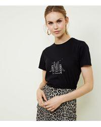 New Look - Black San Francisco Skyline Print T-shirt - Lyst