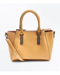 New Look - Mustard Small Structured Tote Bag - Lyst
