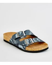 19cb1e851236 Ralph Lauren · New Look - Girls Green Camo 2 Strap Footbed Sliders - Lyst